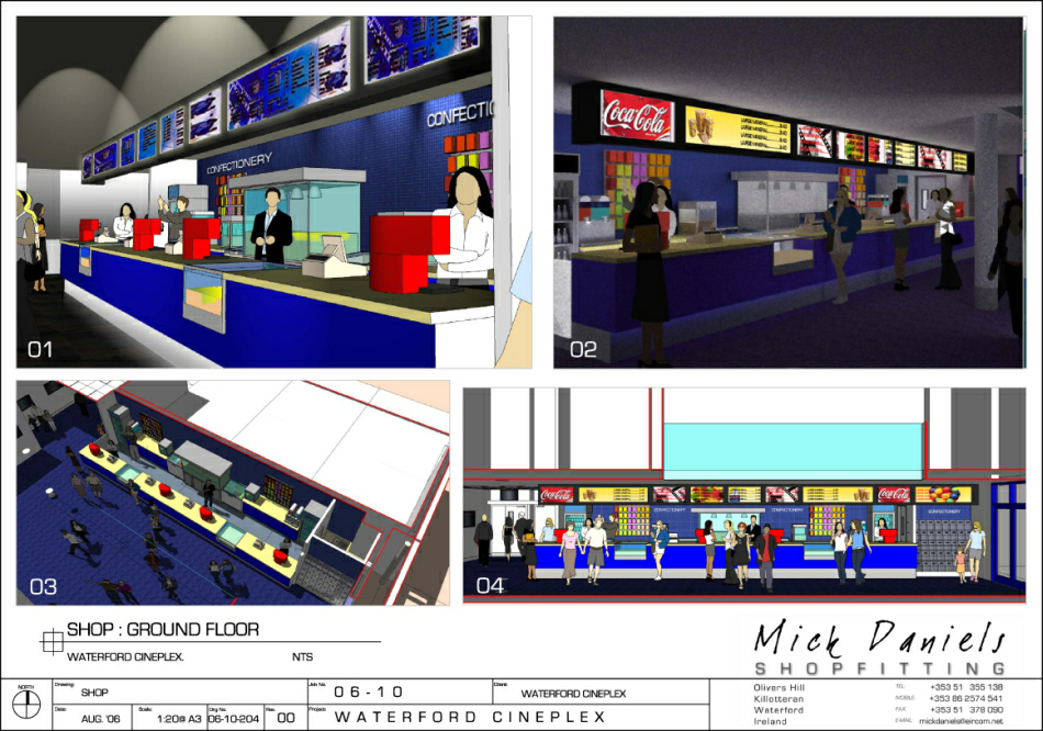 Selected scheme visuals : snack bar & foyer