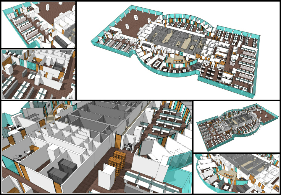 Scheme development : 3d studies