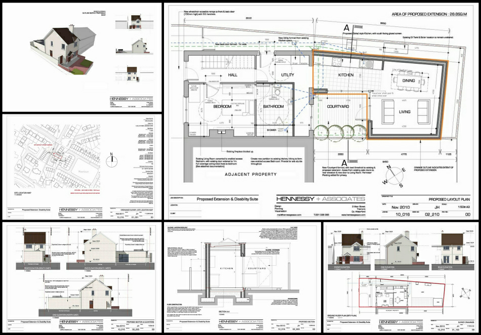 Planning Application Drawings : 'Hero' Sheet