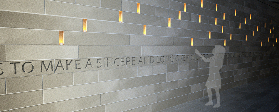 3d Visualisation : Detail of inscribed state apology