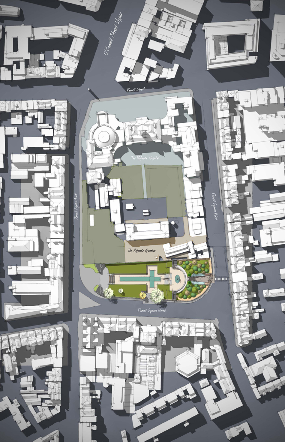 Parenell Suqare, Dublin : Proposed Site Plan