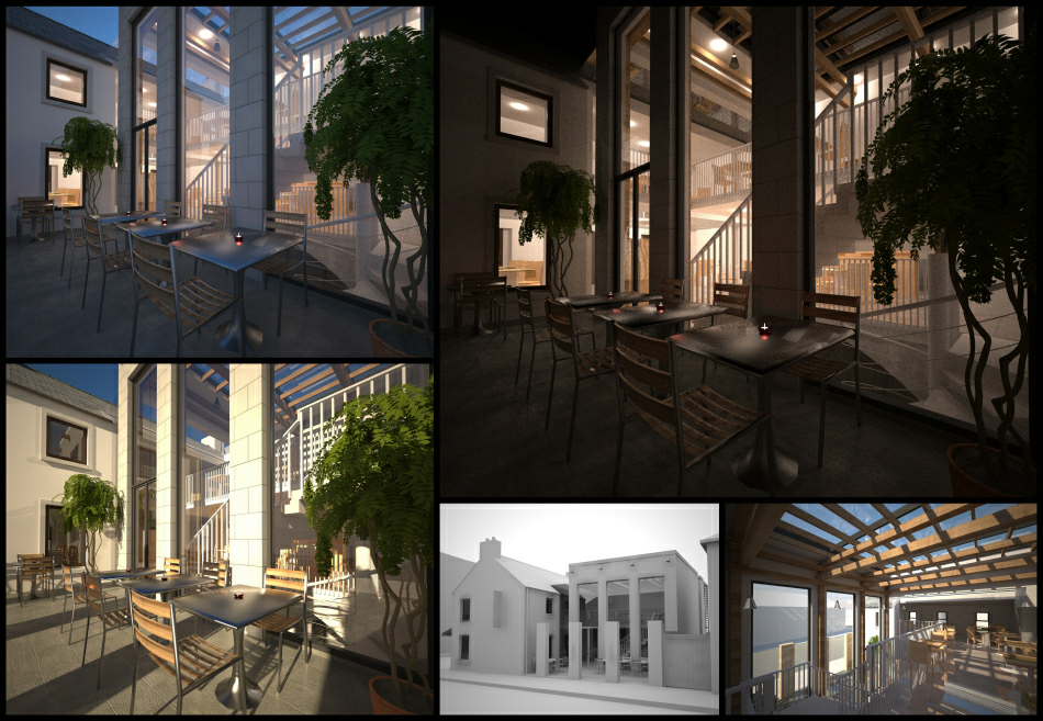Scheme design development : massing & lighting studies