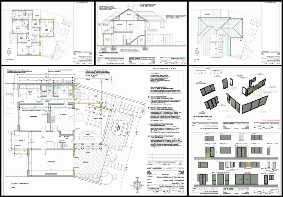 Selected Tender & Construction drawings