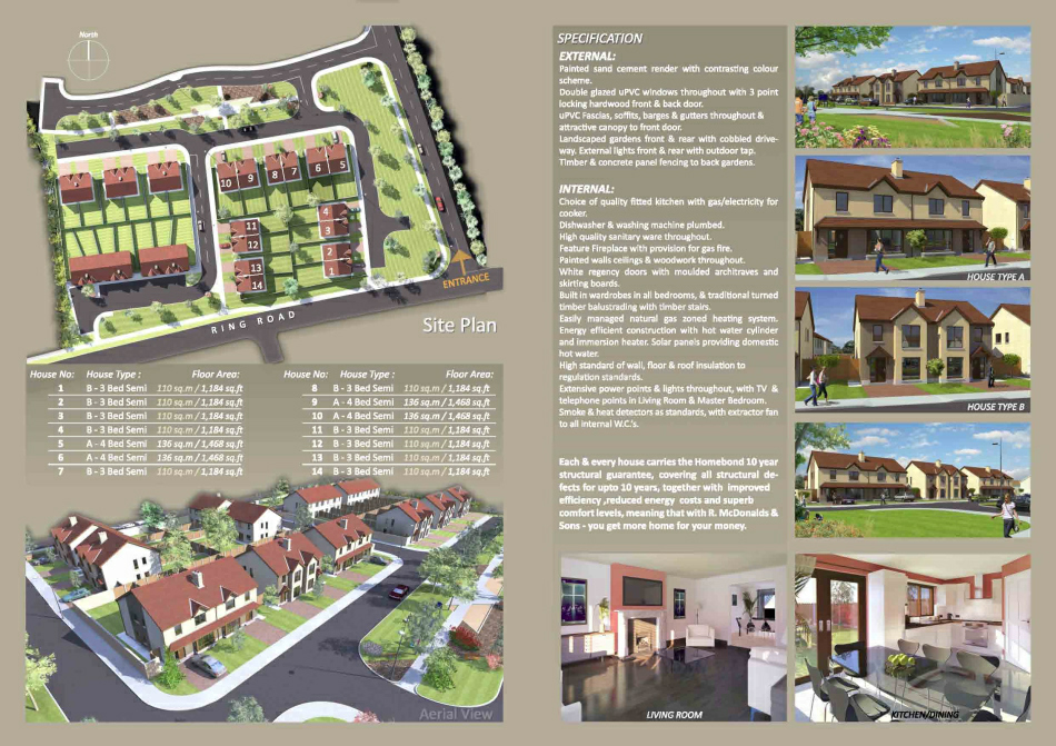 Brochure : Internal: Site Plan & outline spec.