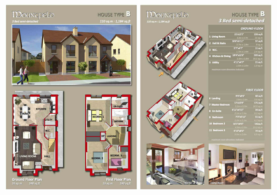 Brochure Inserts: Typical House Type