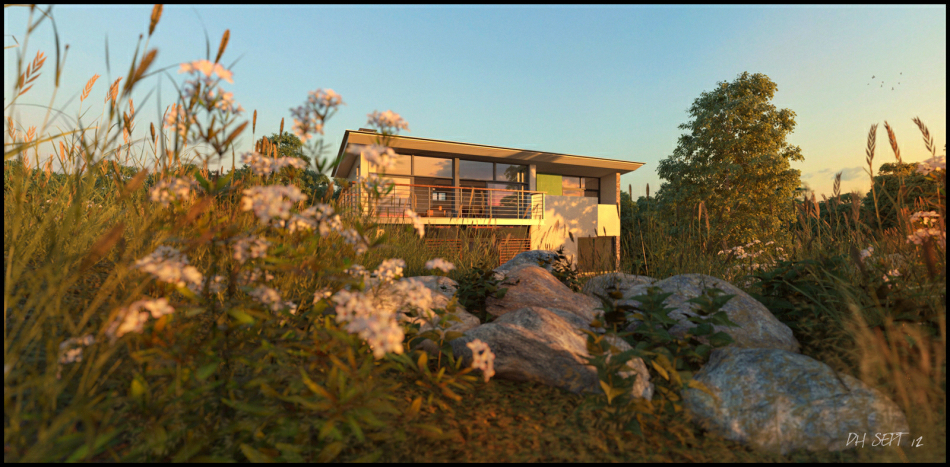 3d Visualisation : Evening shot