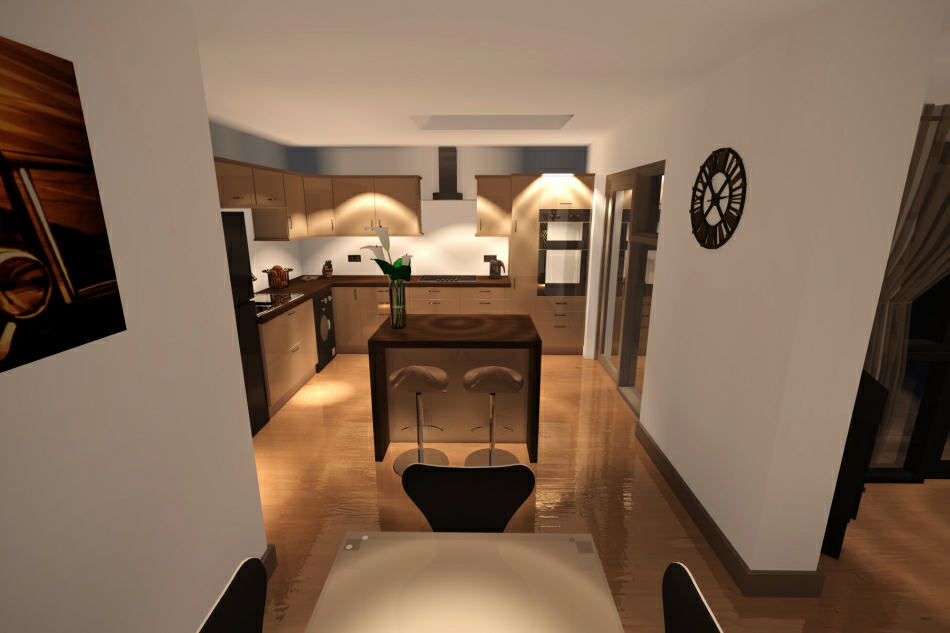3d Visualisation : Kitchen & Dining