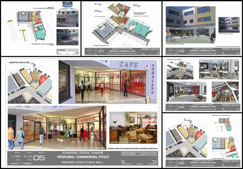 3d Visuals for proposed fit-out of existing vacant units