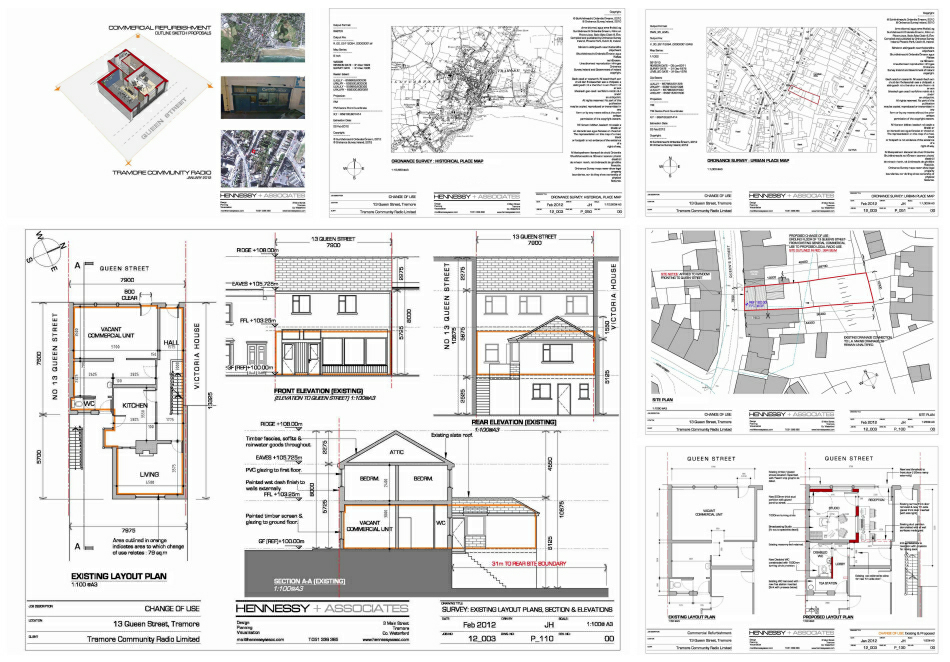 Planning application : selected drawings