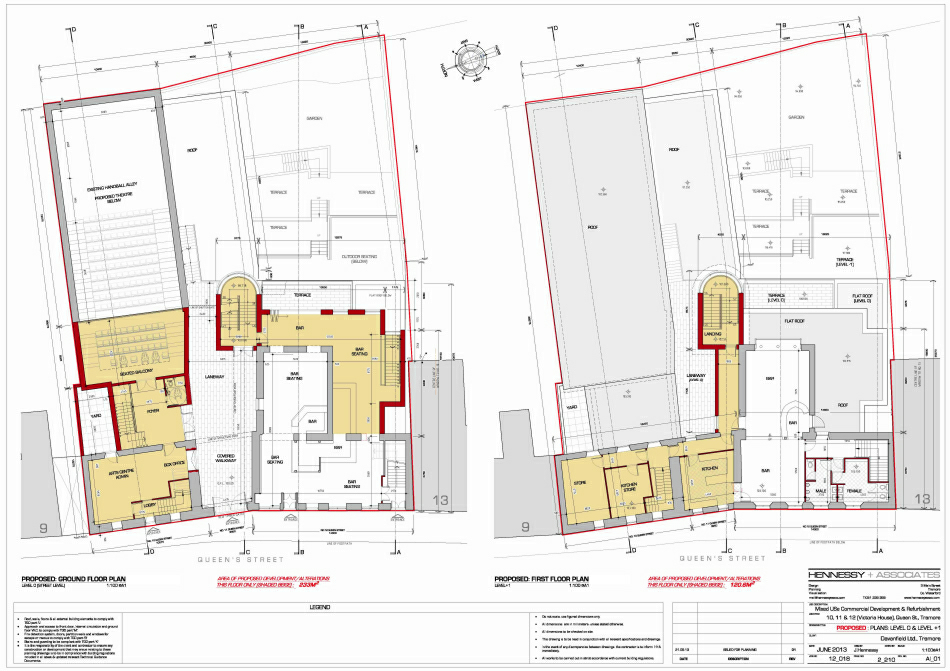 Selected Planning Drawings : Ground & First Floor Layouts