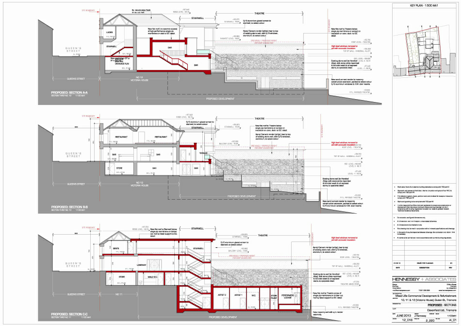 Selected Planning Drawings : Sections & Elevations