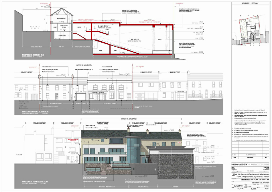 Selected Planning Drawings : Front & Rear Elevations